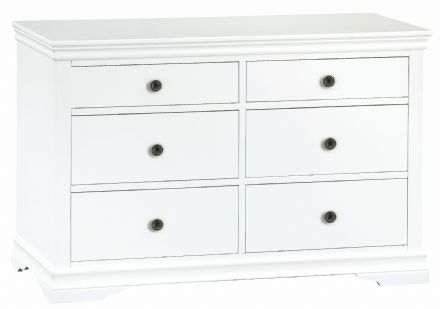 Stratford White Painted 6 Drawer Chest